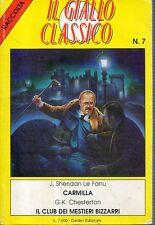 Mu31 Carmilla Le Fanu / Il club dei mestieri bizzarri Chesterton Giallo Classico