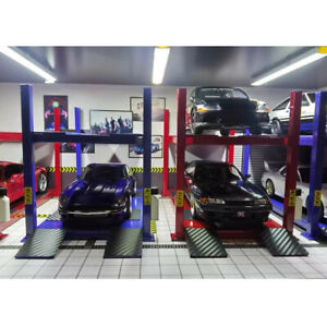 2021 DIY 1:64 Diecast Car Model Parking Lifter Machine Diorama Garage Model Tool