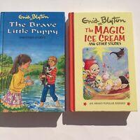 Enid Blyton The Brave Little Puppy The Magic Ice Cream Lot of 2 Hardcover Books
