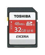 TOSHIBA EXCERIA 32 GB SDHC UHS-I Class 10 memory card 48MB 32G 3D FULL HD SD