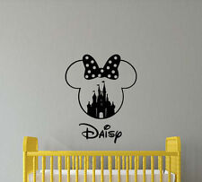 Personalized Name Disney Wall Decal Minnie Mouse Vinyl Sticker Nursery Decor 398