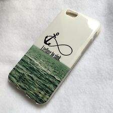 For iPhone 6 / 6S - HARD TPU RUBBER GUMMY CASE COVER OCEAN REFUSE TO SINK ANCHOR