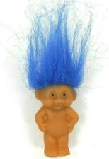 """Vintage 1990's Baby Troll Magical Make A Wish Blue Hair One Tooth 2"""""""