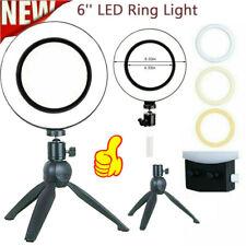 6'' LED Ring Light Dimmable Lighting Kit Selfie Tripod Youtube Makeup Live Phone