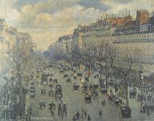 """24"""" PRINT Blvd Montmartre in Paris,1897 by C.Pissarro ANTIQUE MUSEUM ART"""