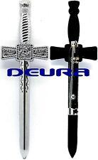 "Quality Large 4.5"" Highland Kilt Pin Celtic Sword Board Kilt Pin Silver Superb"