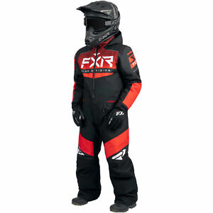 FXR Black/Lava Fade Youth Helium Monosuit HydrX Insulated F.A.S.T. Thermal Flex