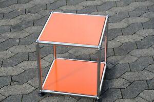 USM Haller Beistelltisch Tisch  RAL  2004 Orange 37x37x39cm NEU