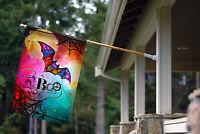 Toland Boo Bat!  28 x 40 Colorful Halloween House Flag