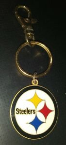 PITTSBURGH STEELERS NFL TEAM LOGO PETER DAVID COLLECTIBLE KEYCHAIN RARE