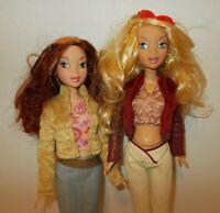 Barbie My Scene Lot of 2 Dressed Dolls Blonde Barbie & Red Haired Chelsea Mattel