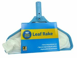 Aussie Gold Pool Leaf Rake Deep Net - Pool Skimmer Net Scoop Shovel