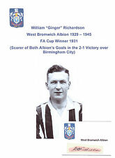 GINGER RICHARDSON WEST BROMWICH ALBION 1929-45 VERY RARE ORIG HANDSIGNED CUTTING