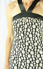 NWOT REVIEW Black and Mottled Cream Lace Formal Occasion Dress Size 10-12