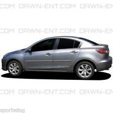 For: MAZDA 3 Chrome Line Painted Body Side Mouldings 3M Tape Install 2010-2016