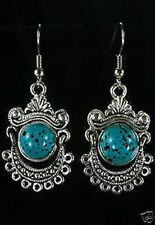 Tibetan tribal turquoise earrings