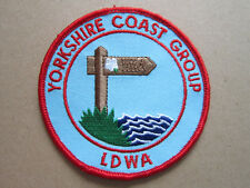 Yorkshire Coast Group LDWA Walking Hiking Cloth Patch Badge (L3K)