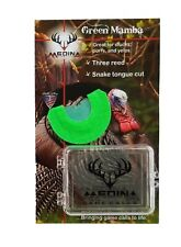 Medina Game Calls Green Mamba Three Reed Snake tongue cut Turkey Mouth Call