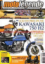 MOTO LEGENDE 219 KAWASAKI 750 H2 HONDA SL 350 VELOCETTE ARIEL BFG MF PARIS DAKAR