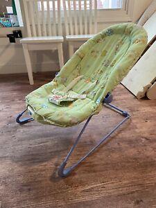 Fisher Price Green Giraffe Vibratory Baby Infant Bouncer