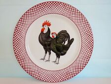 The Haldon Group - Devonshire 1981 Set of 8 Black Chicken Dinner Plates