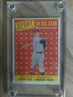 1958 Topps Mickey Mantle All-Star.  VG/EX.  PSA ready