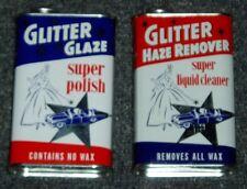 GLITTER GLAZE & GLITTER HAZE REMOVER 1950's AUTO CAR WAXING GAS OIL CAN