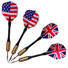 3pcs/set of Steel Needle Tip Dart Darts With Nice Flight Flights UK/US Flag Cool