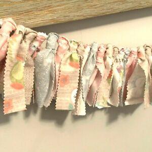 "Rag Garland Girls Bedroom Decor Party Fabric 36"" Pink"