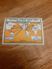 1940 USA FOREIGN TRADE WEEK CINDERELLA STAMP
