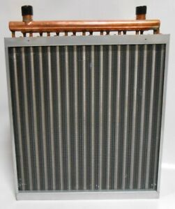 24x24 Water to Air Heat Exchanger Hot Water Coil Outdoor Wood Furnace