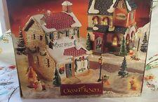 Grandeur Noel Snow Flake Village Post Office & Restaurant w/box