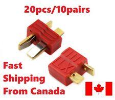 10 Pairs 20Pcs T Plug Male & Female Deans Connectors RC Anti Slip Grip. Canada.