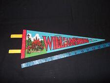 "Williamsburg Virginia Pennant 5"" x 14"" Vintage Flag With Mansion"