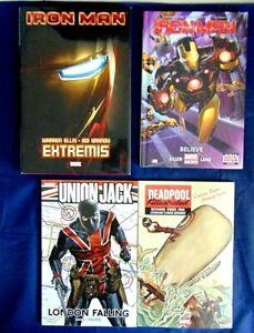 Comic Book Lot Of 4 Iron Man Believe & Extremis Union Jack Deadpool Killustrated