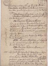 ANTIK Alte Handschrift Urkunde Gerichtsdokument 1804 Sömmerda