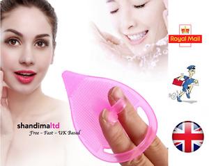 Silicone Facial Face Scrub Brush Wash Pad Dirt Remover Deep Clean Blackhead - UK
