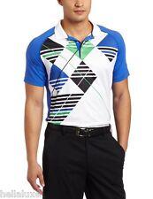 nwt~Puma PERFORMANCE Golf ARGYLE TECH Polo Graphic Shirt UV PROTECTION~Mens sz M