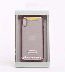 Heyday Case for Apple iPhone XR Clear Case with Bumper Frame - Rose Gold