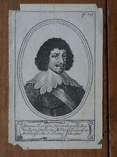 DOMINUS FRANCISCUS IUSSACUS-GRAVURE ORIGINALE PORTRAIT XVIIIEME