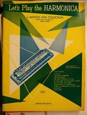 1964 Let's Play the Harmonica A Method and Collection Jerry Sears Words & Music