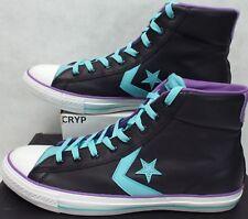 New Mens 11 Converse Star Player EV Hi Black Blue Leather Shoes 136768C $65