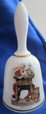"Vintage West Germany 1977 Norman Rockwell Bell ""Santa's Mail"""