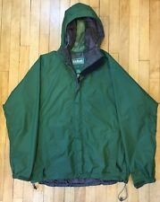 L.L. Bean Goretex Windbreaker Jacket Green Full Zip Stowaway Mens Large
