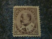 CANADA POSTAGE STAMP SG182/4 1903 TEN CENTS MOUNTED-MINT