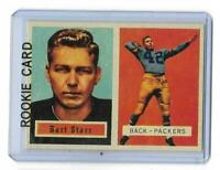 1957 Topps # 119 BART STARR ROOKIE RC REPRINT Green Bay Packers Sharp LOOK !