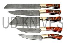 UD KNIVES HANDMADE FIXED BLADE DAMASCUS ART CHEF KNIFE KITCHEN SET BQ- 10681