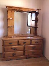Solid Wood Bedroom Set (headboard, footboard, dresser, mirror, 2 nightstands)