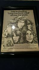 Rainbow Long Live Rock N' Roll Rare Original Promo Ad Framed!
