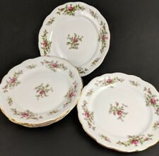Johann Haviland Moss Rose Salad Plates Bavaria Germany Pink Set of 5 Floral